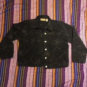 New Direction Black Embroidered Jacket